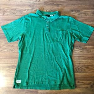 Quiksilver Waterman Polo Shirt Striped Green Large